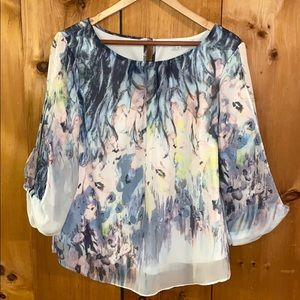 LG Floral Watercolour Blouse